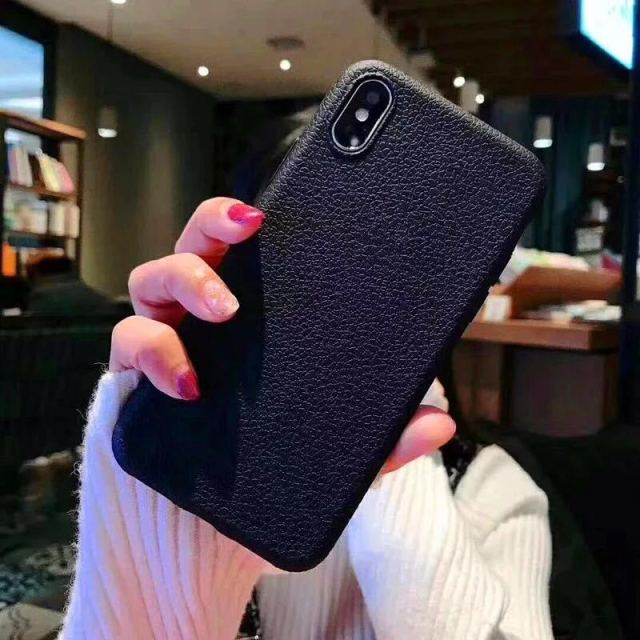 Leather Pattern Silicone Phone Cases for All iPhone Mobiles