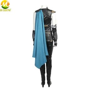 Image 2 - トールラグナロクコスプレ衣装トール 3 Valkyrie 女性のための革のマントトップパンツカスタムメイド