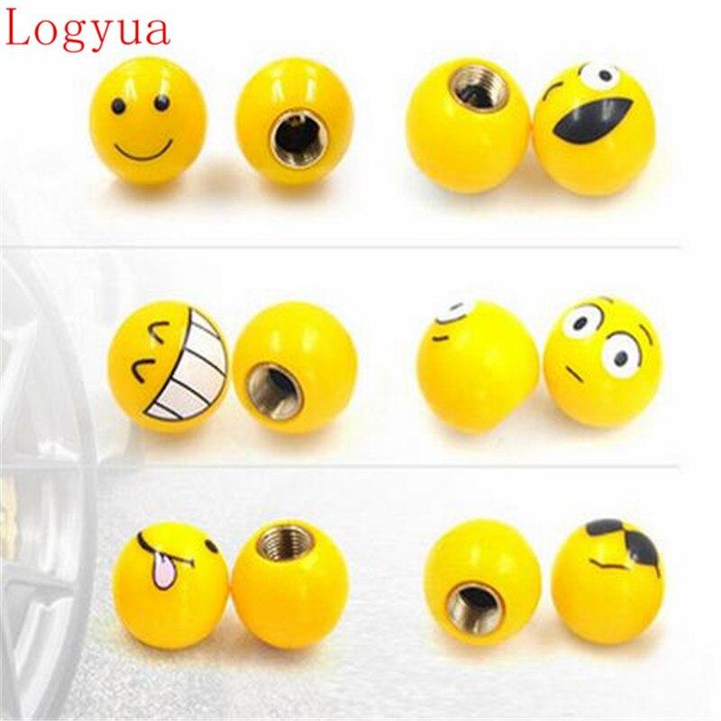 Car Cool Bared Teeth Tongue Smile Face Smiling Ball Balling Design Tire Tyre Air Valve Cap