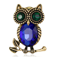 CINDY XIANG Crystal Owl Brooches for Women Fashion Vintage Color Animal Bird Brooch Pin Small Badges T-shit Accessories