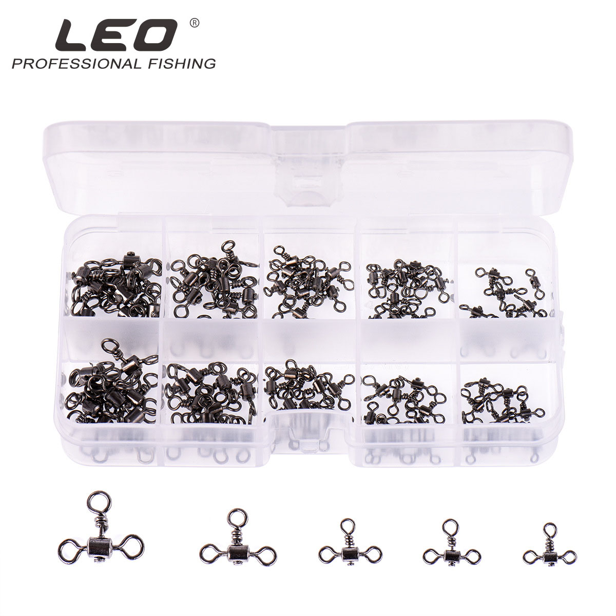 100pcs Leo Fishing Connector 27820 Three Fork Balance Connector Fishing Accessories Pesca American Ring Lure Iron Nickel Plating