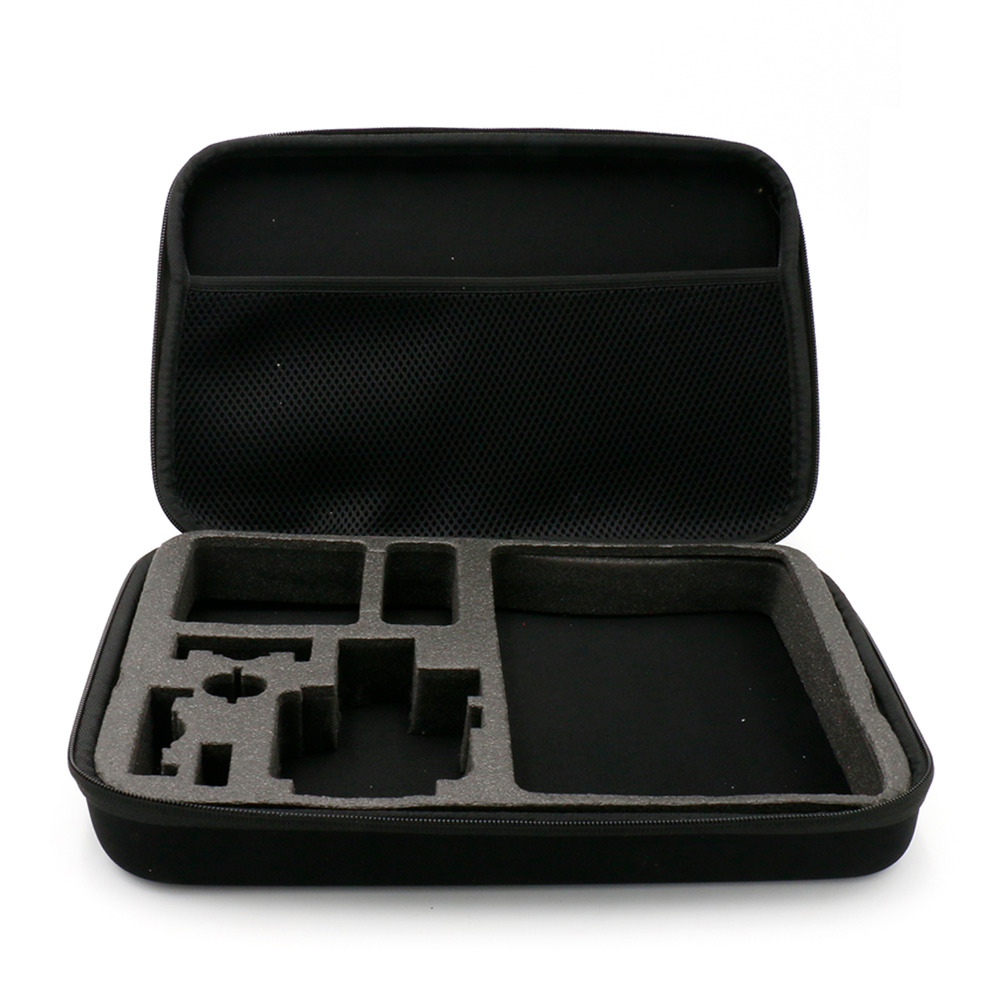 Portable Carry Case L Size Accessory Anti-shock Storage Bag for Gopro Hero 3/4 Sj 4000 XiaomiYi Action Camera