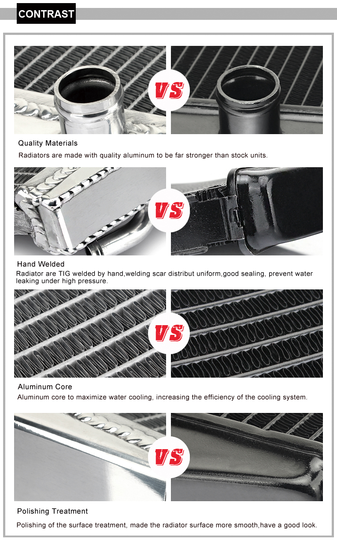 BIKINGBOY Aluminium Core MX Offroad Motorfiets Motor Radiator - Motoraccessoires en onderdelen - Foto 6