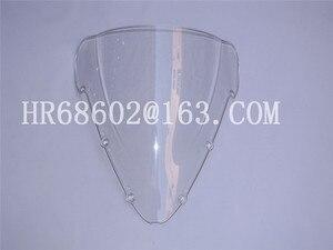 For Honda CBR 600 F4I CBR600 F4I 2001 2002 2003 2004 2005 2006 2007 01 02 03 04 05 07 White Windshield WindScreen Double Bubble(China)