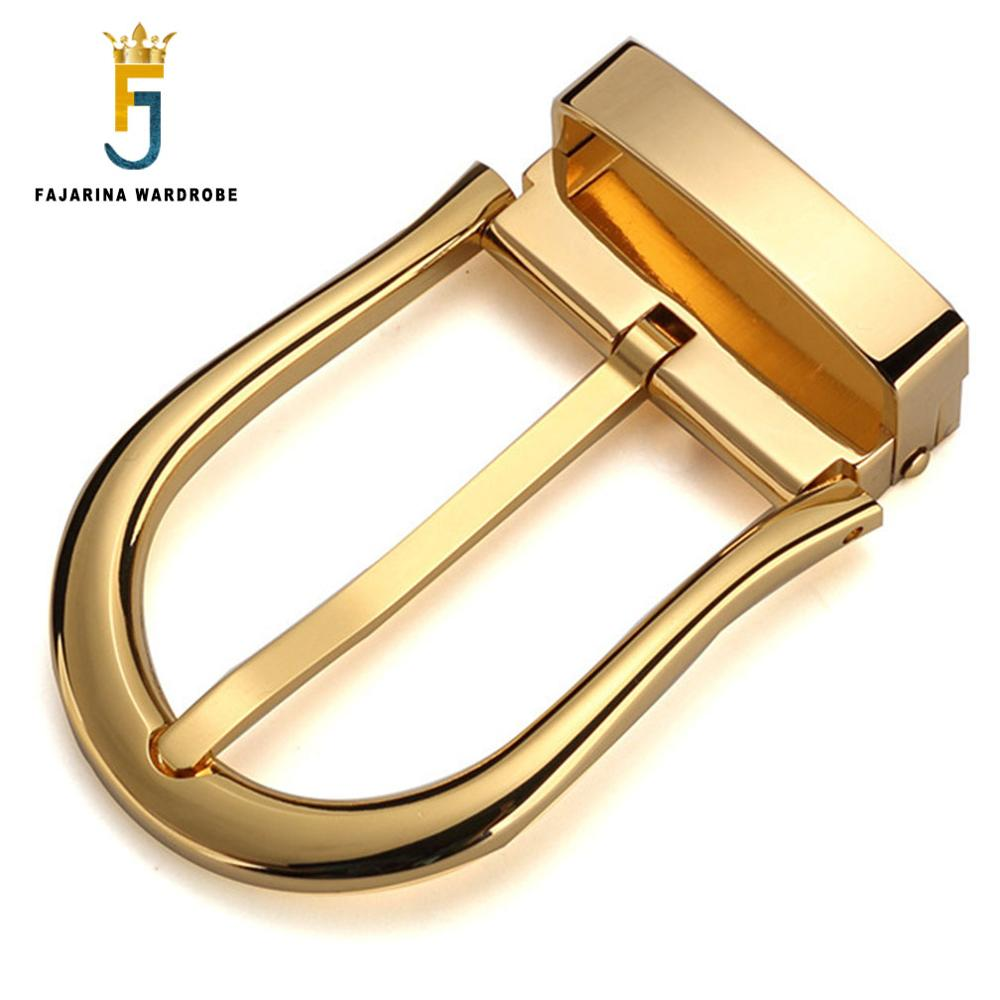 FAJARINA New Arrival Unique Design Sliver & Gold Solid Brass Buckle Only For 3.3cm Width Belt Fast Delivery Free Shipping BK002
