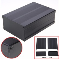Black Aluminum Enclosure Case Electronic Project Circuit Board PCB Instrument Box 150x105x55mm