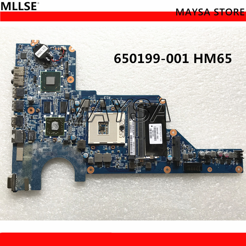 High Quality MB 650199-001 For HP Pavilion G4 G6 G7 Laptop Motherboard DA0R13MB6E1 / DA0R13MB6E0 HM65 HD6470 1GB PGA989 DDR3 sheli laptop motherboard for hp g4 g6 g7 650199 001 da0r13mb6e0 hm65 hd6470 1g non integrated graphic card