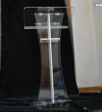 Free Shipping clean cross lectern / crystal clear acrylic cross pulpit of the church