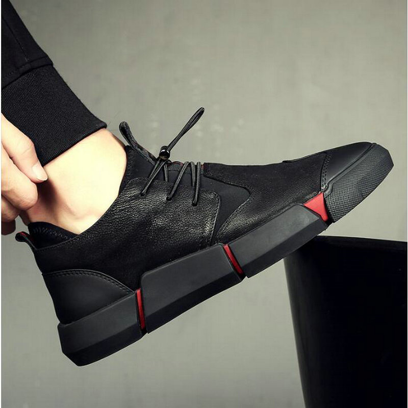 New Fashion Brand Spring Autumn Black  Mens Casual Leather Lace Up Sneaker Formal Oxford Shoes UU-101
