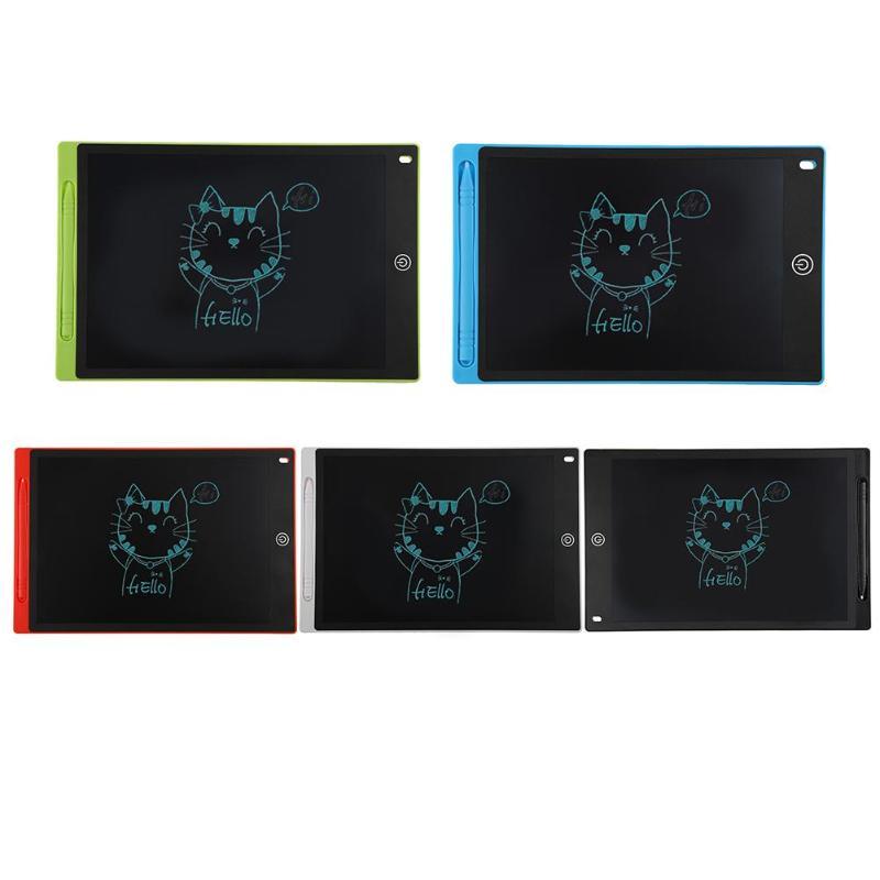 12 pulgadas LCD Digital portátil Tablet dibujo escritura tarjeta gráfica notas recordatorio Bloc de notas con lápiz óptico con CR2016 batería