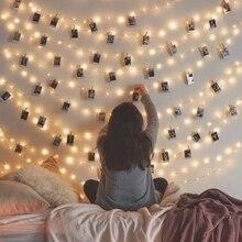 Светодиодные зажимы для фотографий, сказочный светильник, гирлянда с питанием от usb батареи, рождественские светодиодные зажимы, сказочный светильник, вечерние, свадебные украшения