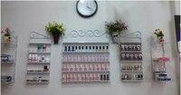 Five piece Iron / continental shelf wall nail polish / nail shop display / perfume holder / cosmetic display cabinets