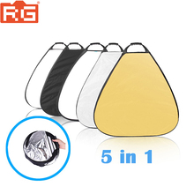 5in1 réflecteur Portable 60 cm 5 couleurs Triangle photographie pliable diffuseur Photo Studio accessoires