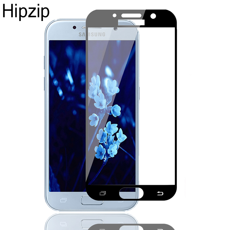 9H HD Tempered Glass For Samsung Galaxy A3 A5 A7 J3 J5 J7 2016 2017 A8 2018 Plus S6 S7 Full Coverage Screen Protector Film Case image