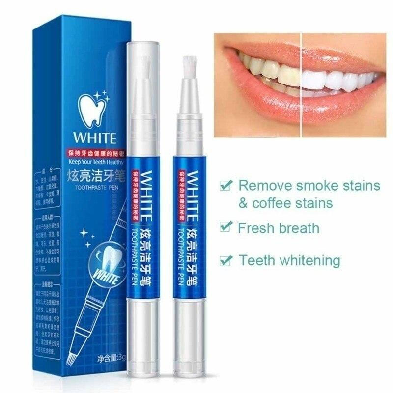Волшебный натуральный отбеливающий гель-ручка для ухода за полостью рта удаляет пятна чистка зубов отбеливающие инструменты для зубов