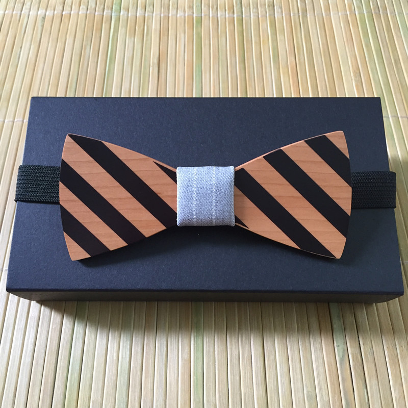 New Arrival Bow Tie Wooden Boss Bow Tie Omantic Men Ties Leisure Wood Bow Tie