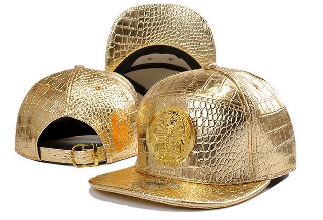 e0a9b1109a995 Gold LK Cayler diamond Tha Alumni Snapback Caps Gold A Hip Hop cap leather  Hats for men Baseball Caps gorras winter hat bones