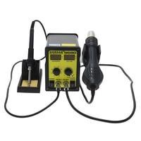 GORDAK 968D sıcak hava sökme istasyonu anti statik çift dijital havya + lehimleme İstasyonu saç kurutma makinesi BGA lehimleme s|Lehimleme İstasyonları|   -