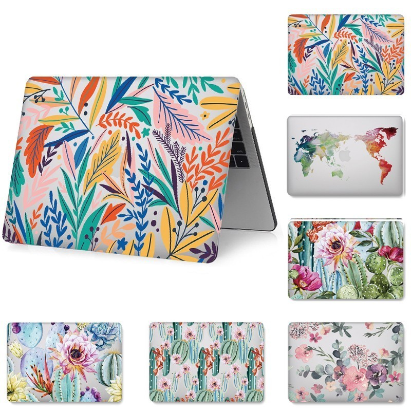 Fashion Hard Shell Laptop Case for MacBook 12 13.3 inch Retina Touch Air Pro 13 12 15 Shockproof Cover 2018Air 13 A1466 A1398-in Laptop Bags & Cases from Computer & Office