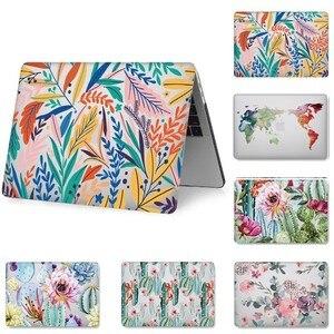 Image 1 - Fashion Hard Shell Laptop Fall für MacBook 12 13,3 zoll Retina Touch Air Pro 13 12 15 Stoßfest Abdeckung 2018Air 13 A1466 A1398