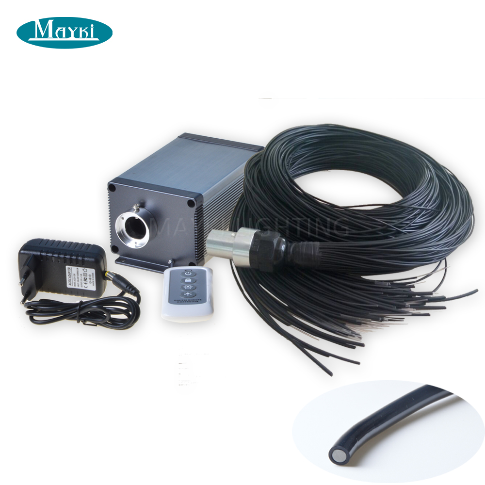 Maykit Market Style Sauna Fiber Optic Light With 1 5mm 2m Flexible End Emit Fiber 5W