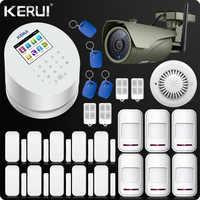 KERUI W2 Wifi GSM PSTN Telephone Landline Home Alarm APP ISO 433MHz TFT Golor Screen RFID Disarm Arm Security Kit