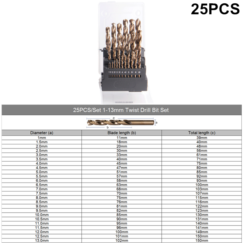 Image 3 - RUITOOL 1 10mm/1 13mm Drill Bit Set Original M35 Cobalt Metal Cutter For Stainless Steel Wood Drilling Power Tools-in Drill Bits from Tools