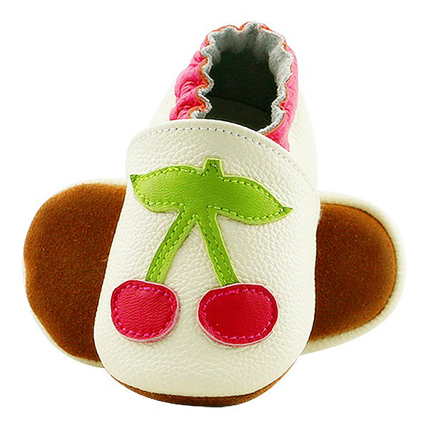 Skid-Proof Newborn Boys Girls Soft Genuine Leather Baby Shoes Strawberry Stars First Walkers Baby Moccasins hot sale style