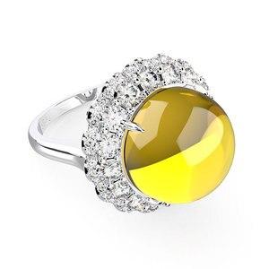 Image 3 - Wong Rain Anillos de Compromiso de piedras preciosas de moissanita para boda, joyería fina, Vintage, 100%, Plata de Ley 925, venta al por mayor