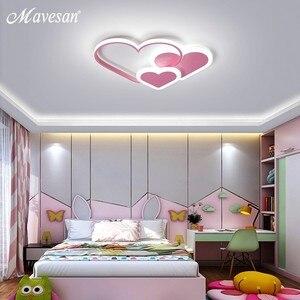 Image 4 - Różowe oświetlenie ledowe żyrandol dla dziewczyny sypialnia Plafond oświetlenie akrylowe lampy nowoczesne nowe oprawy Lampadario oprawy nabłyszczania
