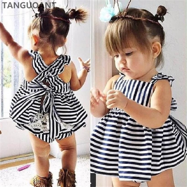Tanguoant Hot Sale Summer Girl Clothing Set Baby Wedding Suits