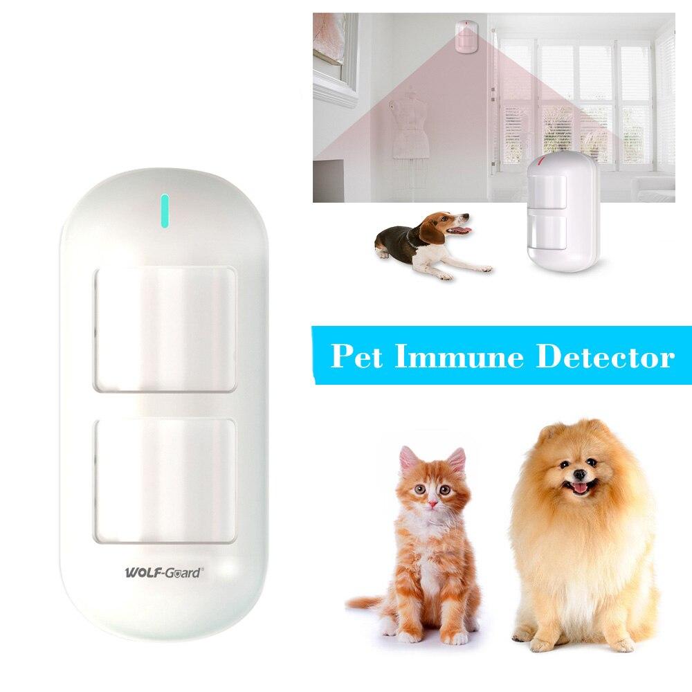 6 teile/los Wolf-Guard Wireless Dual Pet Immune PIR Sensor Motion Detektor für Home Security Alarm Einbrecher System 433 MHZ HW-06D