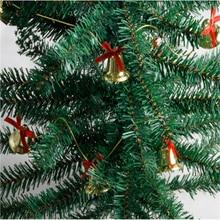Navidad 2019 Christmas Tree Bell Chain Festive Bells Beaded Chain String Christmas Tree Decoration Supplies festive christmas ornament hearts shape bead chain 260cm 2 chain pack