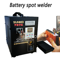 S737A Battery spot welder Small miniature hand held pedal lithium battery/charging treasure/nickel welding machine 220V