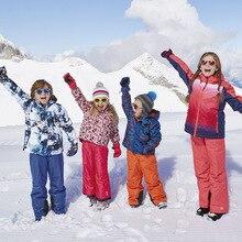 Autumn and winter new outdoor 's boys girls children' s padded Ski Jacket cotton