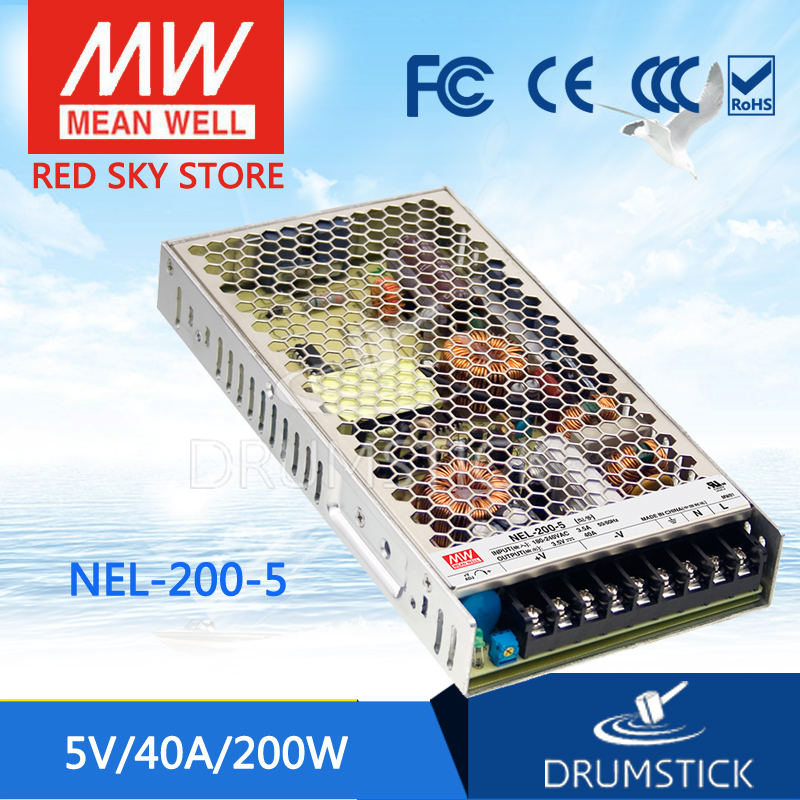 Original MEAN WELL NEL-200-5 5V 40A meanwell NEL-200 5V 200W Single Output Switching Power Supply аксессуар nel hunter 12 5x8 5 для whites prizm 3 4 5 6 coinmaster катушка