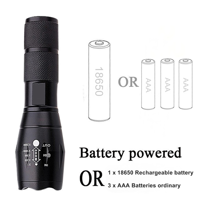 Litwod search light & lighting led flashlight torch XM-L L2/T6 tactical flashlight head self defense hunting portable light