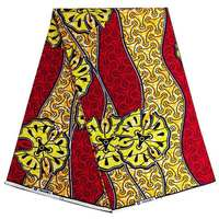 Best price red and gold 100% cotton veritable hitarget wax african ankara wax print fabric for women dress 6yards/lot