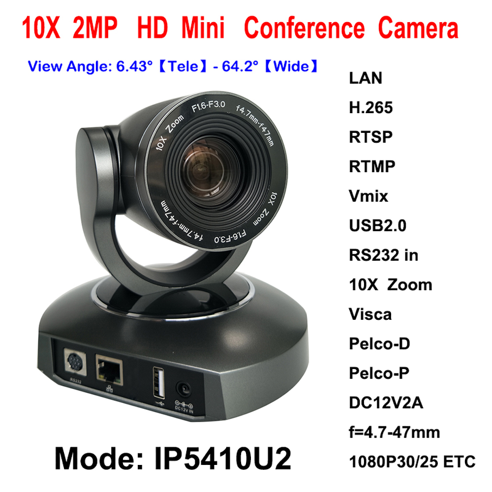 Digital 30fps 1080P IP Video Streaming USB2.0 Conference PTZ Camera for Educational Tele-training system top dvi usb3 0 3 3mp ptz video conference camera hd 1 2 8 cmos 20x zoom visca pelco for professional education training system