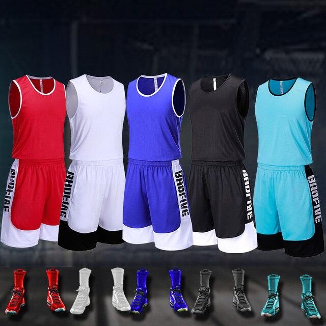 Adult Custom DIY College Basketball Jerseys Sets Uniforms kits Sports  clothing Youth Cheap basketball Uniforms Set 57e63937c312