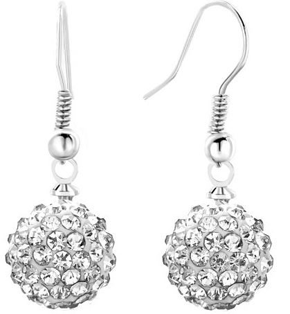 10MM Mixed Micro Pave Disco Ball studs drop dangles Silver Plated Shamballa Earrings Women Crystal Jewelry Rhinestone lot 3gf54