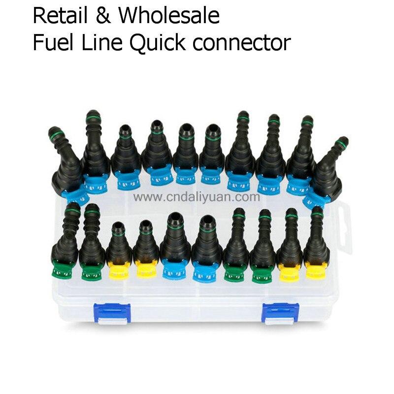 Haute qualité un ensemble SAE Carburant ligne rapide connecteur kit ensemble total 20 pcs pour Ford Buick et Chevrolet pour voiture Américaine