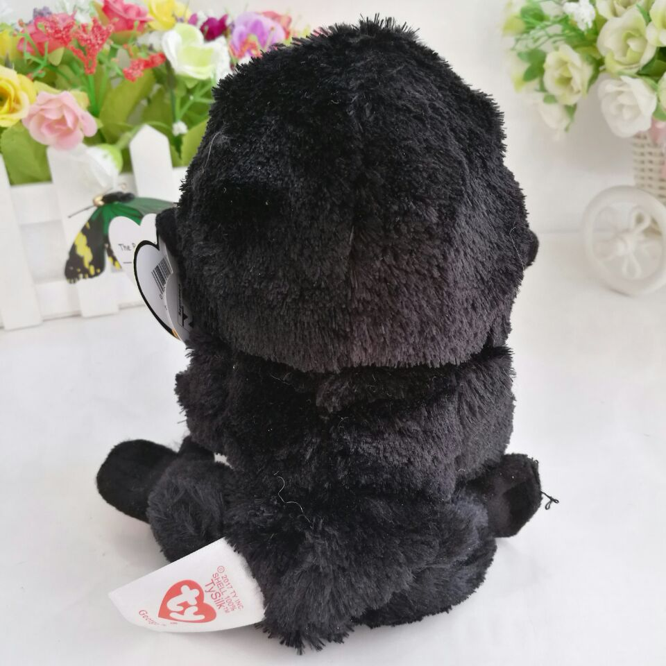 e706c66d46f George gorilla chimpanzee 15CM 6  In Stock Original Ty Beanie Boos Big Eyed  Stuffed Animal Toy Birthday Gift Plush Toy-in Stuffed   Plush Animals from  Toys ...