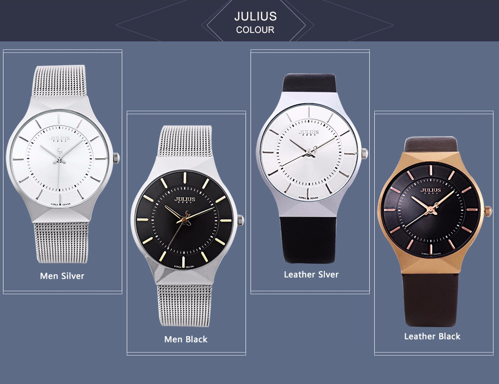 Julius Men Watch Stainless Steel Band Analog Display Quartz Wristwatch (16)