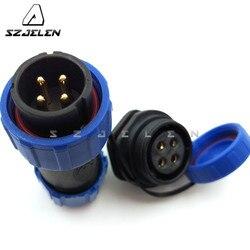 SP2110/SY2112  4 pin wodoodporny kabel złącza przewodów IP68 przewód męski żeński złącze wtyczka samochodowa złącza przewodów elektrycznych|Złącza|Lampy i oświetlenie -