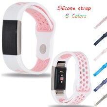 Esporte Silicone pulseira de borracha da Banda Cinta para Fitbit Carga 2 smart watch band para Fitbit Carga 2 Assista Acessórios wristbiet
