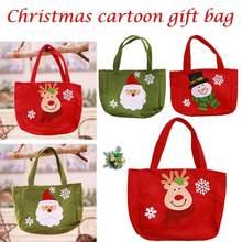 ed2e01b2e Lindo Santa Claus muñeco de nieve caramelos bolsas de regalo galletas bolsas  de embalaje bolso de fiesta Feliz Navidad Paquete d.