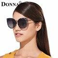 ДОННА Женщины Cat Eye Солнцезащитные Очки Luxury Brand Дизайнер Металлический Каркас Очки Негабаритных Старинные Большие Квадратные Очки D21