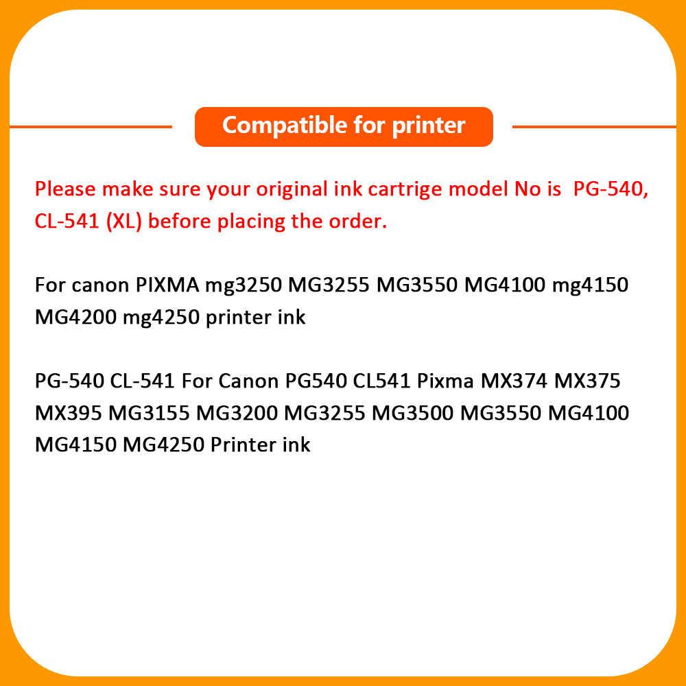 Xiangyu PG540 PG-540 PG 540 Black Ink Cartridge untuk Canon PG-540 MX375 MX395 MX435 MG2150 MG2250 MG3150 MG3250 MG4150 MG3650
