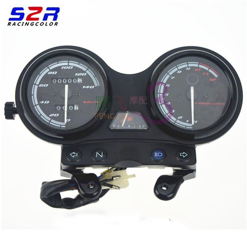 Motorcycle Tachometer Speedometer Meter Gauge Moto Tacho Instrument clock case for YAMAHA YBR 125 2005 2009